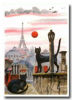 Chats de Paris vus par Colette Brunelière. bonheurdelire.over-blog.com