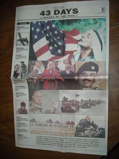 The Sun Section E Sunday March 10, 1991 Desert Storm 43 Days Images of the war Persian Gulf - For sale at Wenzel Thrifty Nickel ecrater store