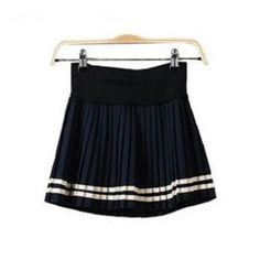 $5.63 Preppy Style Pleated Cotton Blend Skirt For Women