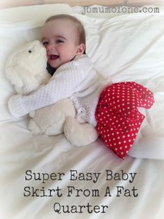 A super easy baby skirt tutorial made from one fat quarter of material. Sewing Projects For Kids, Sewing For Kids, Sewing Diy, Sewing Crafts, Granny Square Pattern Free, Baby Love Quotes, Baby Announcement Pictures, Baby Skirt, Baby Dress