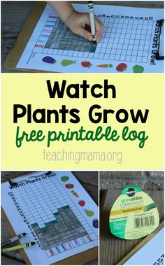 Free Printable Observation Log for your garden! Great activity to do with kids. #GroablesProject