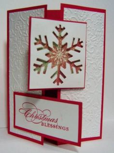 Snowflake - Cards and Paper Crafts at Splitcoaststampers Homemade Christmas Cards, Christmas Cards To Make, Xmas Cards, Handmade Christmas, Homemade Cards, Holiday Cards, Christmas Diy, Tarjetas Diy, Snowflake Cards