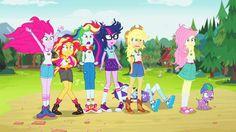 #1351710 - animated, applejack, equestria girls, fluttershy, humane five, humane seven, humane six, human twilight, legend of everfree, mane six, pinkie pie, rainbow dash, rarity, safe, screencap, spike, spike the regular dog, spoiler:legend of everfree, sunset shimmer, twilight sparkle - Derpibooru - My Little Pony: Friendship is Magic Imageboard