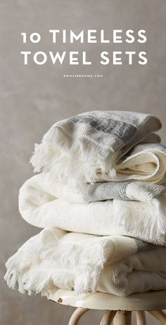 Luxurious towel sets for every home
