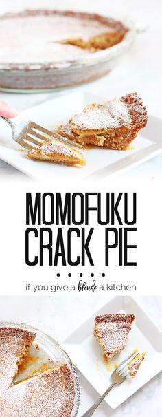 Momofuku Crack Pie recipe - it's so addicting, no wonder they call it crack pie! | www.ifyougiveablondeakitchen.com