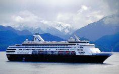 Alaska - Holland America Line's Statendam in Sitka Harbor