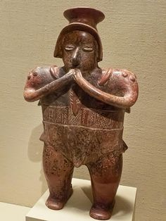 Standing Figure from Colima West Mexico ~ Tlatilco culture ~ 300 BCE - 200 CE Ceramic ~ Portland Art Museum ~ Portland, Oregon Ancient Aliens, Ancient History, Art History, Maya, South American Art, Aztec Culture, Mesoamerican, Ancient Artifacts, Tribal Art