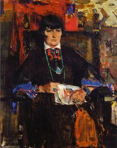 Портрет Мэйбл Додж Люхан (1927-1933). Николай Фешин