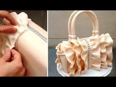 How To Make a Ruffle Fashion Handbag Cake by Cakes StepbyStep - YouTube