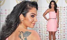 Tulisa flaunts unicorn tattoo in pink dress at National Film Awards