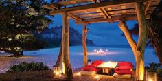 North Island is breathtaking private resort in the Seychelles offering ten exclusive Presidential Villas, by the emerald waters next to the East Beach. Seychelles Africa, Beach Honeymoon Destinations, Outdoor Spaces, Outdoor Decor, Victoria, Island Resort, African Safari, South Of France, Luxury Villa