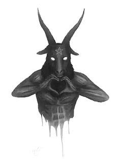 Yesus holds satan back.he get then free like the wind.suddenly without warning karma police Baphomet, Arte Horror, Horror Art, Satan Drawing, Wicca, Magick, Dark Fantasy, Fantasy Art, Satanic Art