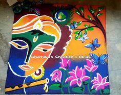 Easy Rangoli Designs Videos, Easy Rangoli Designs Diwali, Rangoli Designs Latest, Free Hand Rangoli Design, Rangoli Ideas, Rangoli Designs Images, Beautiful Rangoli Designs, Simple Rangoli, Mehndi Designs