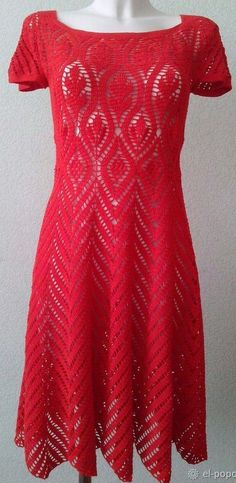 Flame Crochet Dress