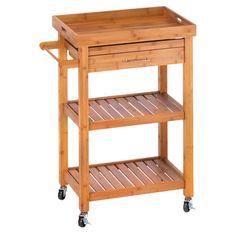 Bamboo Kitchen Cart.