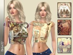 Vintage T-shirts by Birba32 at TSR • Sims 4 Updates