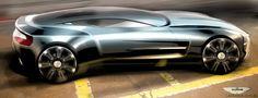Aston Martin One-77 official sketch