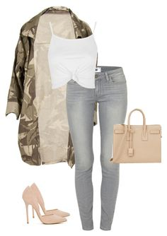 Untitled #353 by deborahkallu on Polyvore featuring polyvore, fashion, style, Topshop, Paige Denim, Steve Madden, Yves Saint Laurent and clothing