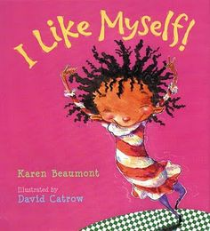 "I like myself by Karen Beaumont - book with art activity.  Regular drawing or picture of face.  Add hair with watercolor blown through straw...from like in book ""Even when I look a mess, I still don't like me any less."""
