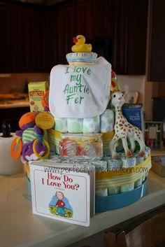 gender neutral diaper cake