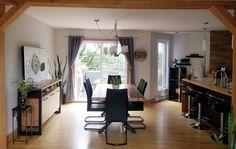 TABLE ORLÉANS - MERISIER - AMBRÉE - FINI TEXTURÉ - 72'' X 40'' X 2'' ÉPAIS - BUFFET AUGUSTA - TABLEAU UGO #lusine #table #orleans #merisier #ambree #buffet #augusta #tableau #ugo #pattex Buffet, Conference Room, Orleans, Desk, Furniture, Home Decor, Board, Desktop, Decoration Home