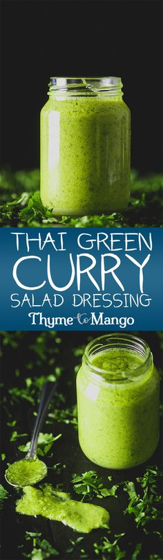 Spicy // sweet // creamy // and utterly delicious, this Thai Green Curry Salad dressing will put all other salad dressings to utter shame!
