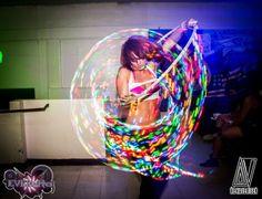 LED hoop dance