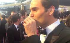 Roger Federer Does a Tequila Shot On-Air at the Oscars