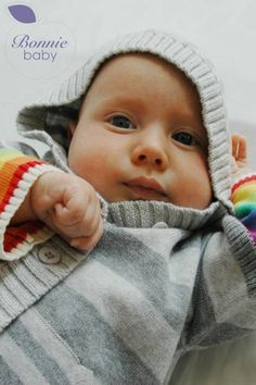 Babysoft Rainbow Cotton Hooded Cardigan Rainbow Cardigan, Hooded Cardigan, Hoods, Face, Cotton, Cowls, Hooded Jacket, Food, The Face