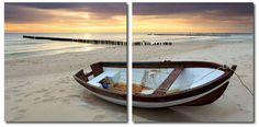 Wholesale Interiors VC-2093AB Fisherman's Respite Mounted Photography Print Diptych - Each