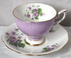 Royal Standard Violet Cup and Saucer RSD38 VGC #RoyalStandard