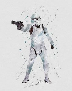 Storm Trooper Star Wars Watercolor Art - VividEditions