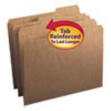 Desk Supplies>Desk Set / Conference Room Set>Holders> Files & Letter holders: Kraft File Folders, 1/3 Cut Right, Reinforced Top Tab, Letter, Kraft, 50/Box