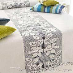 PDF Crochet bedspread pattern bedcover Crochet by Marypatterns Filet Crochet, Crochet Motifs, Crochet Quilt, Crochet Art, Thread Crochet, Irish Crochet, Crochet Doilies, Crochet Patterns, Crochet Bedspread Pattern