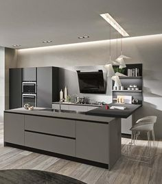 The Most Incredibly Disregarded Answer for Comprex Kitchens Combine Sophisticated Aesthetics with Hi-Tech Features - lowesbyte Kitchen Cabinet Remodel, Modern Kitchen Cabinets, Kitchen Interior, New Kitchen, Kitchen Decor, Kitchen Ideas, Kitchen Rustic, Kitchen Cupboard, Kitchen White