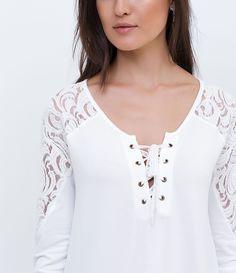 Blusa feminina Amarração no peito Detalhes em renda Marca  Blue Steel  Tecido  Viscolycra Composição d5c087cc89