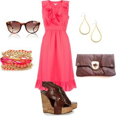 pink, created by sayancik on Polyvore