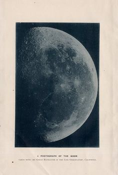 photograph of the moon, 1892