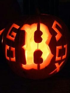 Boston Red Sox pumpkin