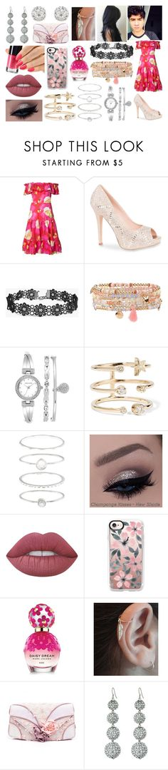 """Wedding with Calum Hood"" by kitty-styles-horan-biedka ❤ liked on Polyvore featuring Isolda, Lauren Lorraine, GURU, Boohoo, Accessorize, Anne Klein, Andrea Fohrman, Lime Crime, Casetify and Marc Jacobs"
