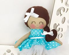 Fabric Dolls Handmade Doll Rag Doll by SewManyPretties on Etsy