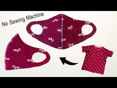 Handmade Medical Mask Tutorial - Face mask no sewing machine - YouTube Sewing Hacks, Sewing Tutorials, Sewing Crafts, Sewing Projects, Sewing Diy, Diy Crafts, Easy Face Masks, Diy Face Mask, Sew Ins