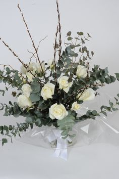Valentine's Day Bouquet £55 excluding delivery: Say 'I Love You' with a dozen long stemmed, Norma Jean, white scented roses. So much more elegant than red.