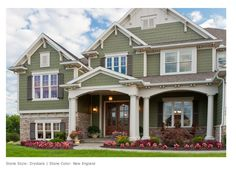 Idea for landscaping around the front and porch area.http://www.qualitystoneveneer.com/gallery.html