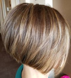 Honey Brown Bob with Blonde Highlights