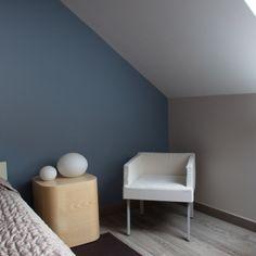 maison en bleu et blanc chambre adulte tollens