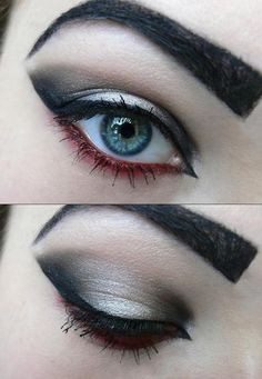 Black Silver and Red colors Eye Make Up https://www.makeupbee.com/look.php?look_id=92245