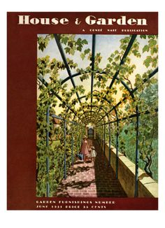 House & Garden Cover - June 1931  by Pierre Brissaud