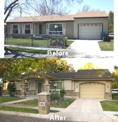 1000 images about ugly house makeovers on pinterest exterior makeover curb appeal and home House transformations exterior