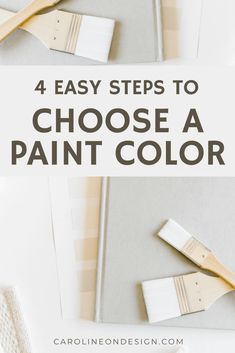 I have four EASY steps for you to get a much better idea of what a paint color will look like on a larger scale. Use all of these methods (combined) the next time you need to choose a paint color! Pink Paint Colors, Paint Colors For Home, House Colors, Best Interior Paint, Interior Decorating Tips, White Poster Board, Exterior Paint Colors, Custom Homes